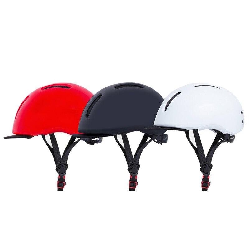 Sport Bicycle Helmets Matte Black Men Bike Helmet Back Light Removable Brim Design Sweat Absorbent Anti Impact Helmet Bicycle Helmet    - title=
