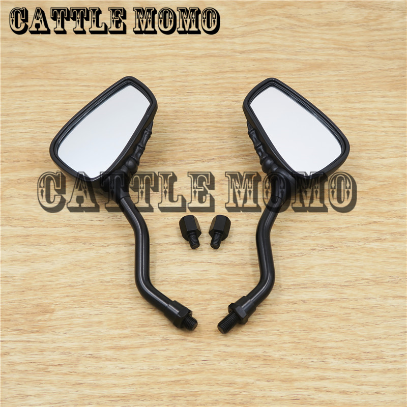 New Style SKELETON Skull HAND Claw Side Rear View Mirrors 10mm Universal Side Mirrors Rearview mirrors Chrome&Black