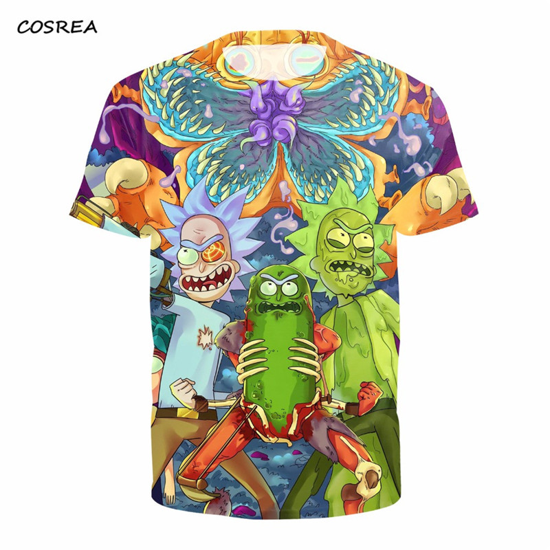 Anime Rick and Morty t shirt Crossfit Fitness Costumes Casual Men/Women 3D Funny T-Shirt Men Tops t-shirt Harajuku For Adults