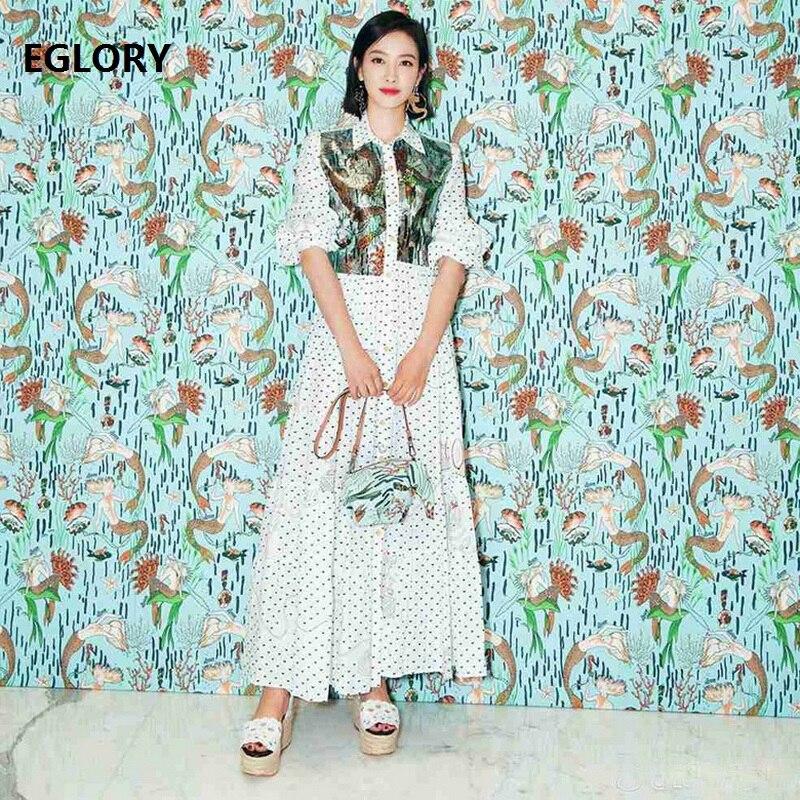 Высокое качество 2018 осеннее Новое Женское платье с этническим принтом с длинным рукавом, офисное женское длинное платье рубашка, стильное п...