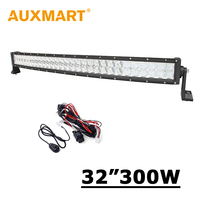 32inch 300W Curved LED Light Bar 5w 60 For Philips LED Off Road Lamp Combo Beam