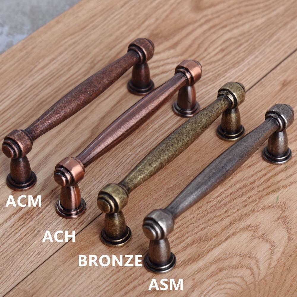 US $7.0  96mm vintage retro style maniglie per mobili argento antico  dresser cucina maniglie delle porte dell\'armadio bronzo cassetto manopole  tira ...