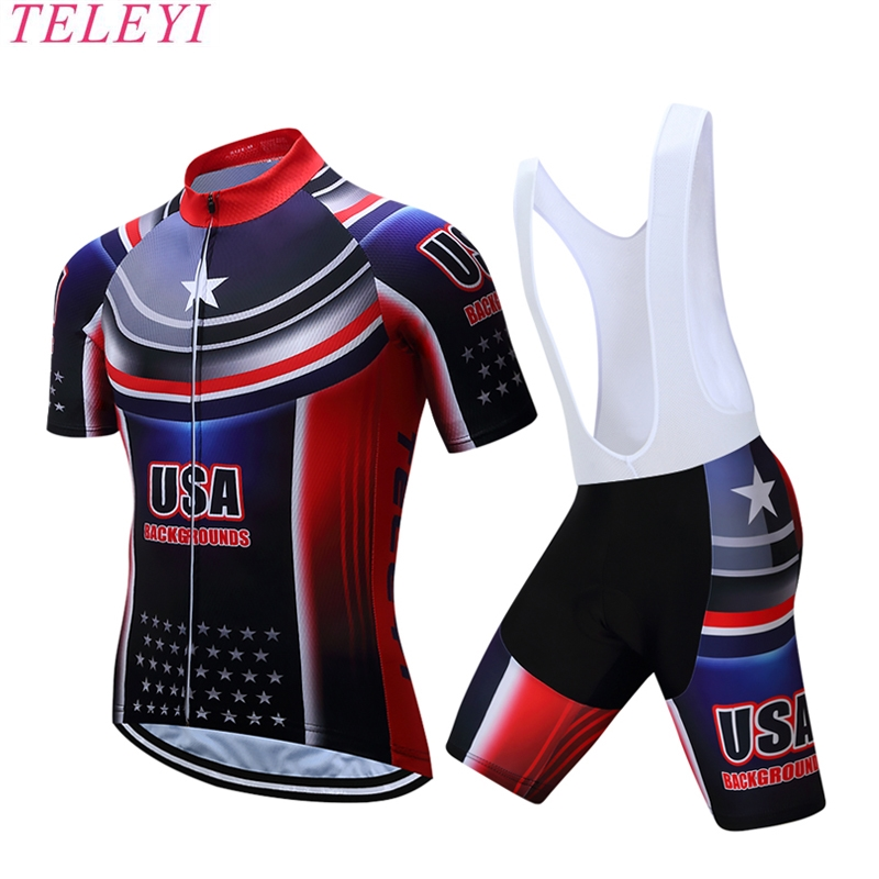 Prix pour 2017 USA Cycling jersey polyester à séchage rapide pro vélo maillot VTT Ropa Ciclismo team sky Vélo maillot chemises