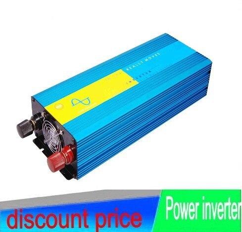Pure Sine Wave Power Inverter 12V 220V 2000W Solar Inverter Car Power Inverter Peak Power 4000W Invertor With Digital Display