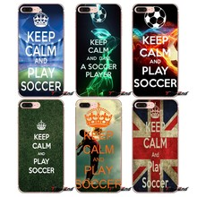For Huawei G7 G8 Ascend P7 P8 P9 Lite Honor 4C 5X 5C 6X Mate 7 8 9 Y3 Y5 Y6 II Pro Keep Calm and Play Soccer Football Case(China)