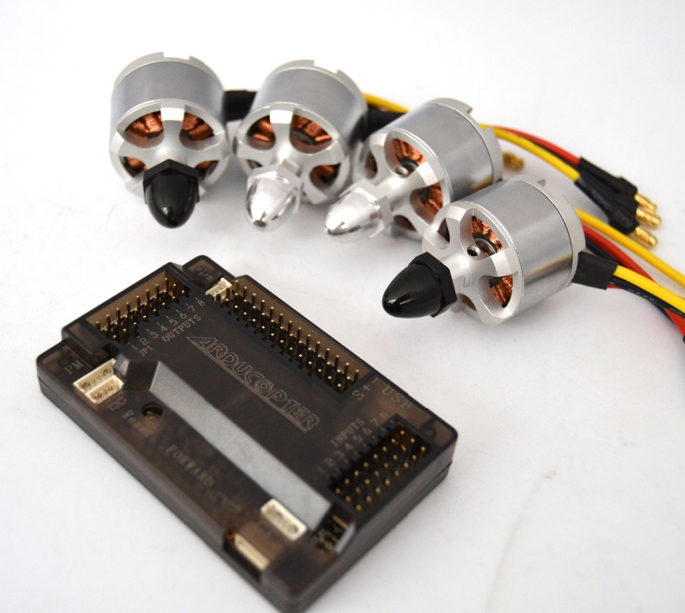 ФОТО Apm2.6 Flight Controller Board + 4x 2212 920kv Brushless Motor (2CW/2CCW)  For F450 F550 Airplanes Quadcopter