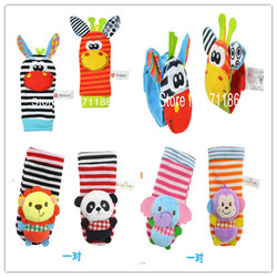 Baby rattle toys garden bug wrist rattle and foot socks animal cute cartoon baby socks.jpg 250x250