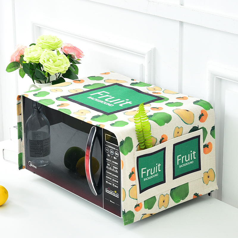 Aliexpress Microwave Oven Cover Dust Proof Green Leaf Pattern Covers Protective Past Style Cloth High Quality Free Shipping From