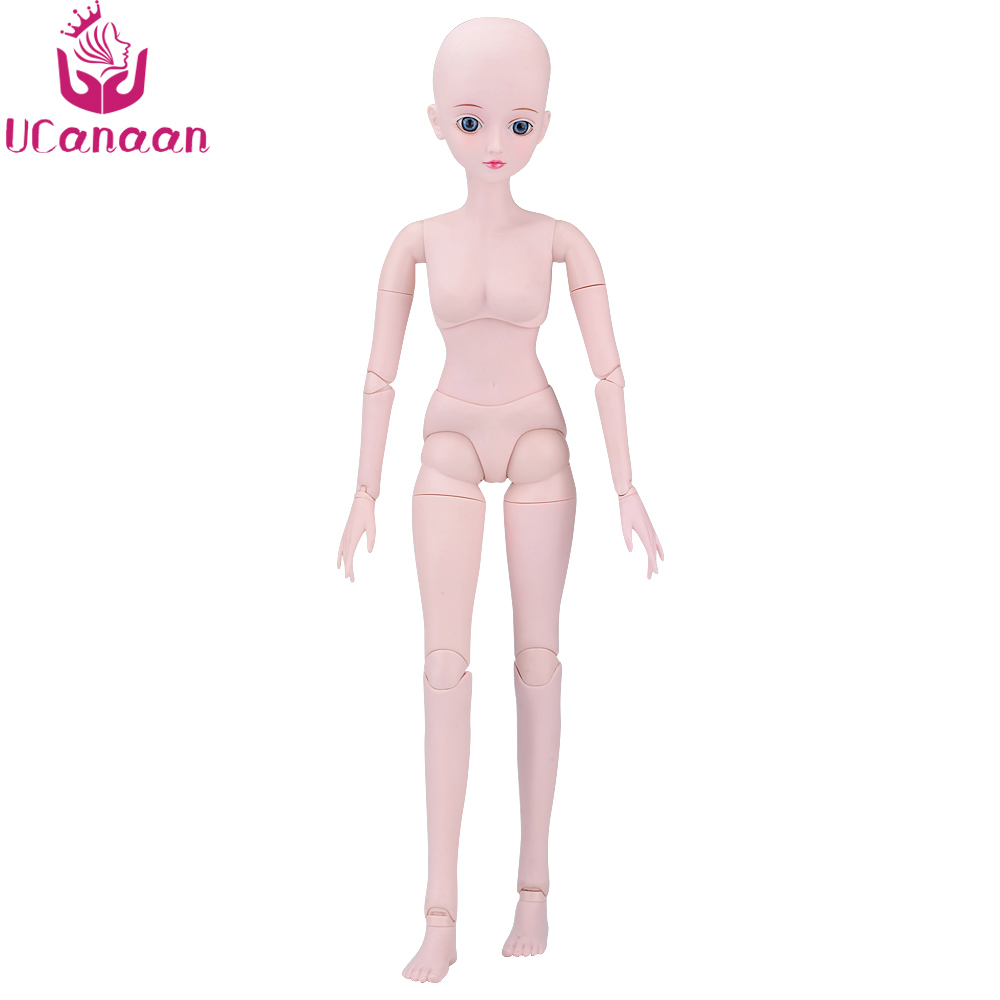 UCanaan 1/3 BJD Doll Nude Body Handmade 19 Ball Jointed BJD Model Reborn Dolls Dressup DIY SD Doll Best Gift For Girl Kids Toys 18inch handmade full silicone vinyl sd bjd doll reborn with professional design clothes for dolls must be the best gift of kids