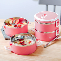 Stainless Steel Lunch Boxs Thermo MultilayerFood Containers Storage For Kids Portable Thermal Japanese Bento Tableware Set