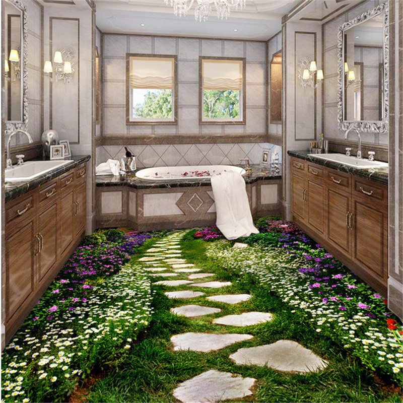 beibehang Custom 3D photo floor painting wallpaper PVC adhesive wear non-slip waterproof thickened comes Wallpaper Murals floor beibehang modern bathroom kitchen custom 3d floor mural wallpaper wear non slip waterproof thickened self adhesive 3d pvc floor
