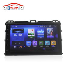 Free shipping 9″ car radio for Toyota Prado 120 2004-2009 Quadcore Android 6.0 car dvd gps with 1G RAM,16G iNand,steering wheel