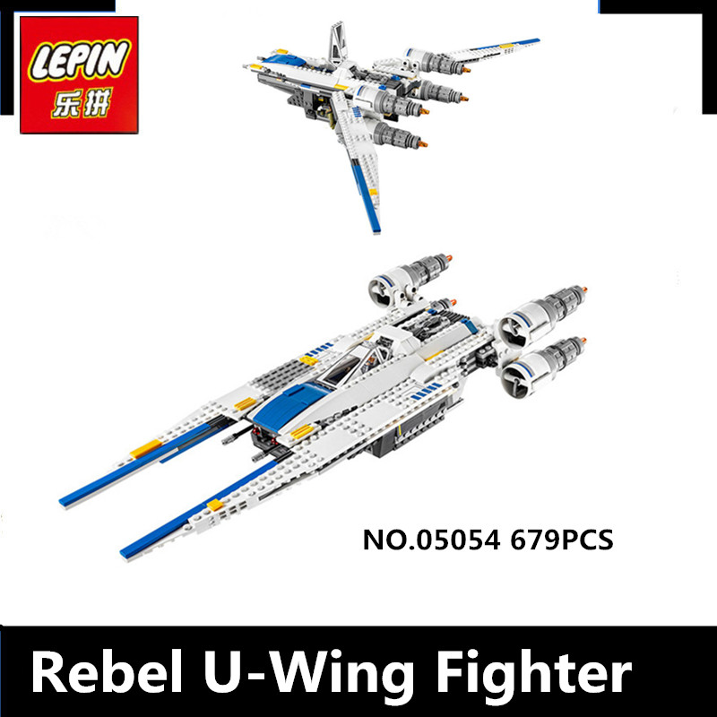 IN STOCK  New Lepin 05054 679pcs Genuine  Series The Rebel U-Wing Fighter Set Building Blocks Bricks Toys 75155