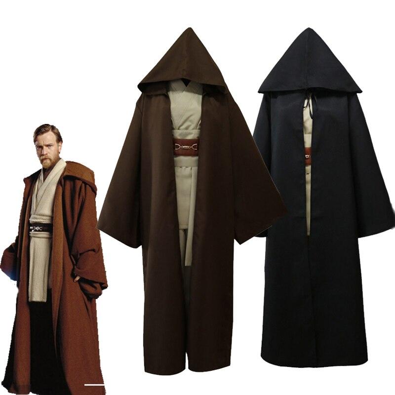 Halloween Star Wars Cosplay Obi Wan Kenobi Jedi Knight Adult Costume Cloak Suits