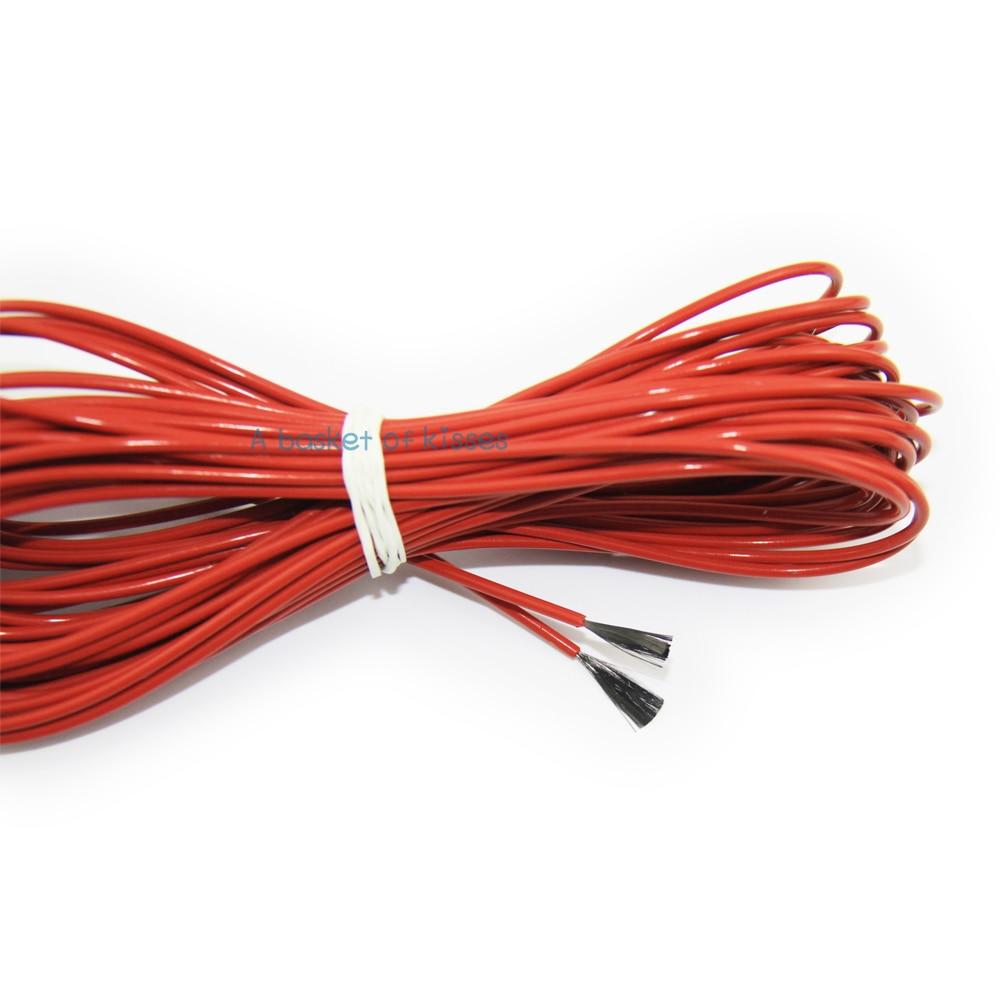 F12K 10meters 33ohm Teflon PTFE Carbon fiber heating cable heating ...