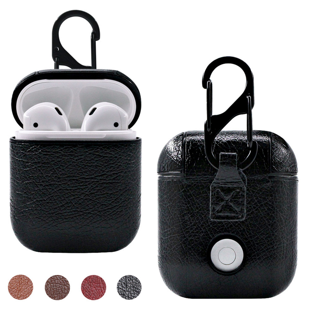 Luxury Leather Wireless Earphone Case For AirPods Protective Cover Skin Accessories For Apple Air Pods Charging Box