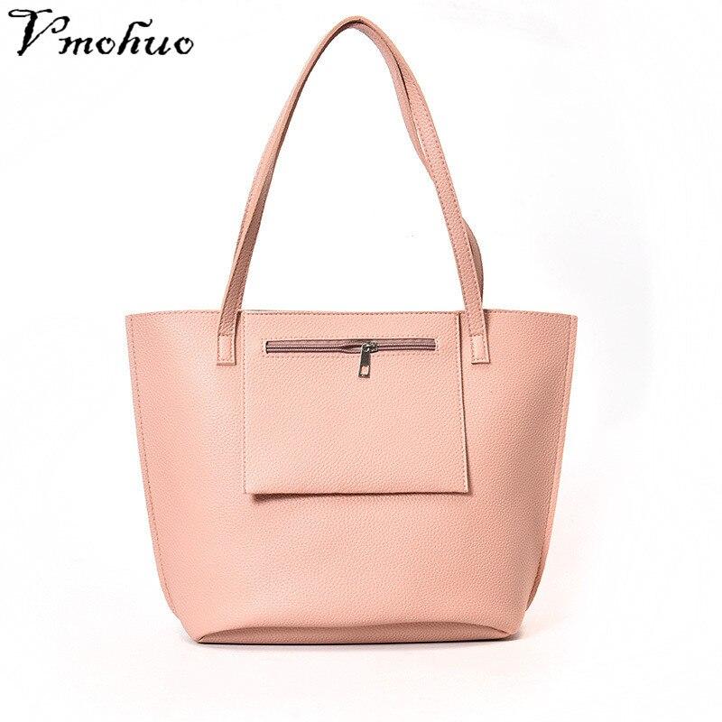 VMOHUO 4pcs/set Fashion Women PU Leather Handbag Lady Large Capacity Shoulder Bag Sets Messenger Bag Clutch Casual Tote Bags 2