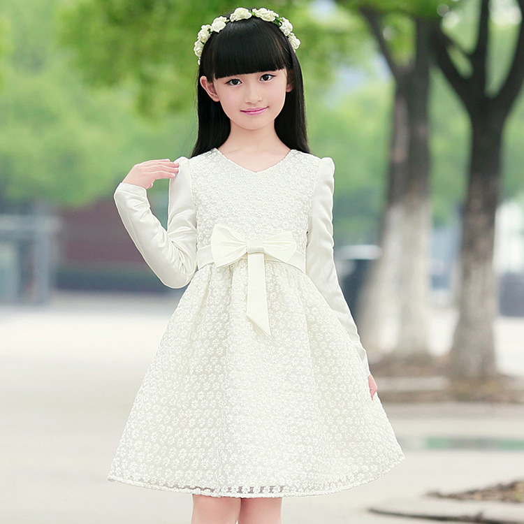 White Girl Fashion: Kids Girls Dress Korean Princess High End Children's Dress