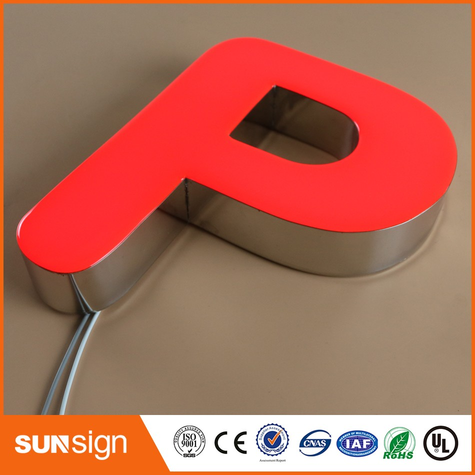 Frontlit resin outdoor led retail signs