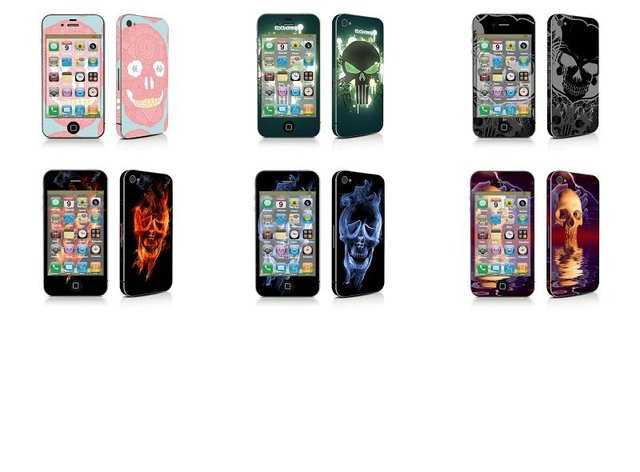 300 pcs Attractive Interesting Devil Style Stickers Skin For iphone 4 4G