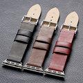 4 colores apple watch banda de cuero hombres mujeres relojes correa de traje para su apple watch pd013-4