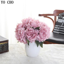 5 Heads Peony Bouquet Artificial Rose Silk Fake Flower Room Hydrangea Wedding Decor Party home decoration