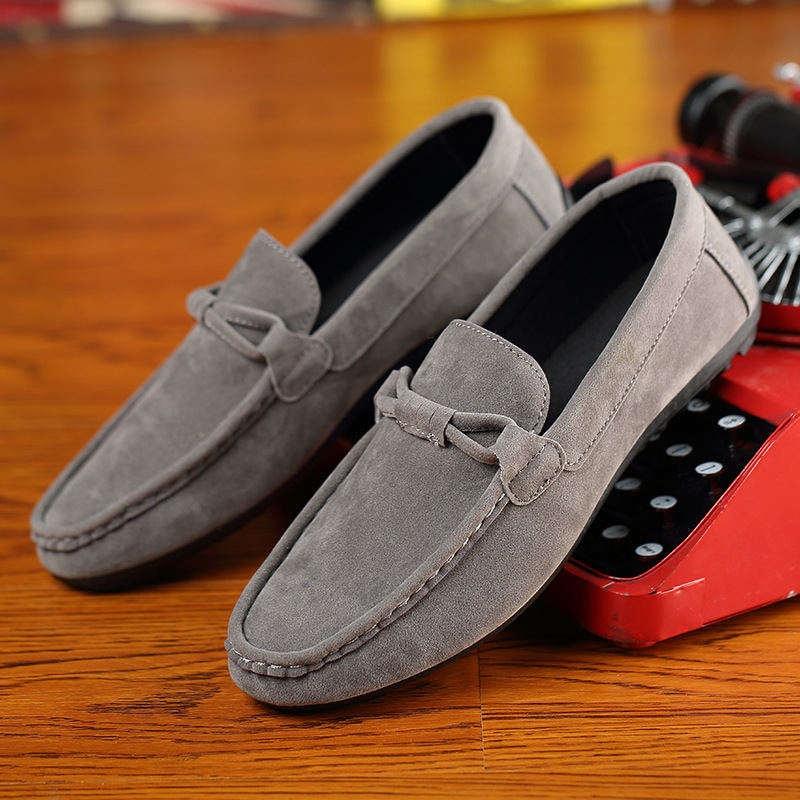 Shouba Mens Fashion Casual Loafers Shoes Dark Brown