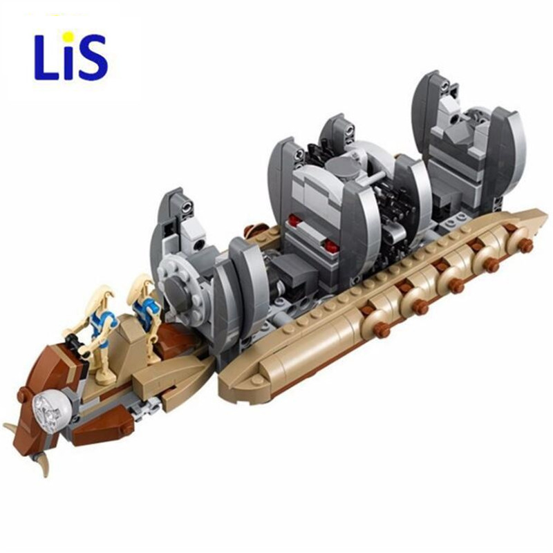 Lis 10374 Star series Wars NEW Battle Droid Troop Carrier model Building Blocks kid Toys Gifts figure Boys compatible with