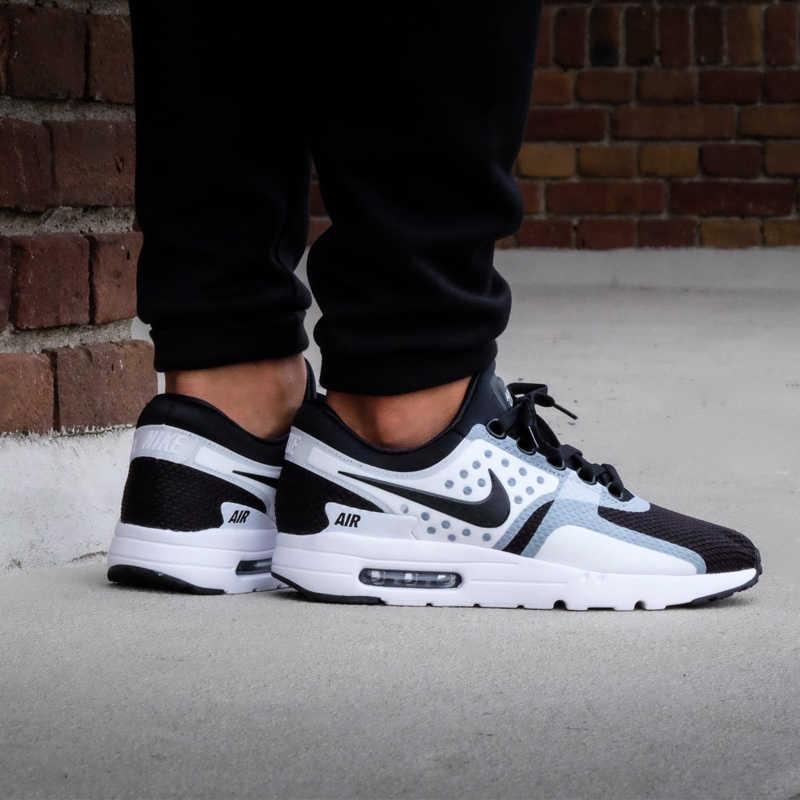 Оригинальный Nike Оригинальные кроссовки AIR MAX ZERO ESSENTIAL мужские кроссовки дышащие, для активного отдыха и спорта обувь удобные 2019 Новый 876070