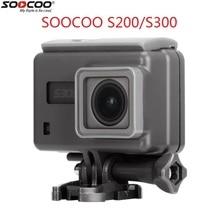 2018 soocoo S200 S300オリジナルアクションカメラ防水ケースのサポートタッチスクリーンダイビングハウジング防水ボックスアクセサリー