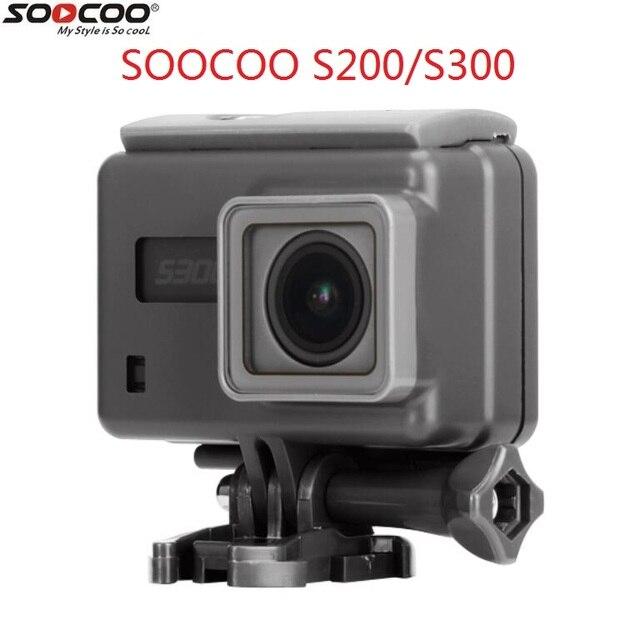 2018 soocoo s200 s300 original ação câmera à prova dwaterproof água caso suporte tela de toque mergulho habitação caixa à prova daccessories água acessórios