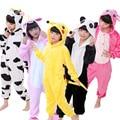 85-165cm Kigurumi Onesie Kids Animal Panda Pajamas Children Flannel Cartoon Boys Girls Halloween Party Cosplay Pyjama Sleepwear
