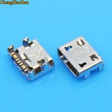 цена на ChengHaoRan 2pc Micro usb jack socket connector for Samsung G130H G318 G310HN G313F G313H G313HD G313HN G313HU Galaxy Ace 4 Duos