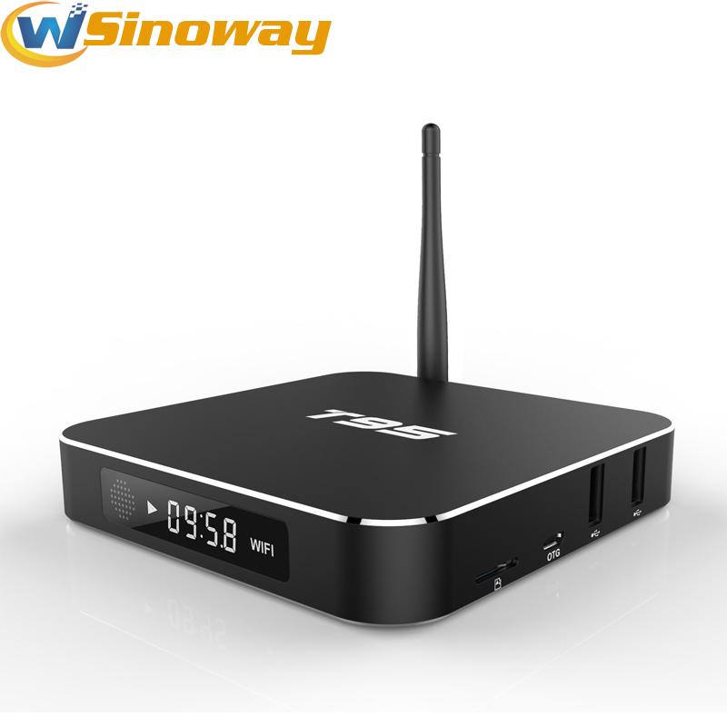Prix pour T 95 Boîtier Métallique Amlogic S905X Quad Core Andorid 6.0 TV BOX 1 GB/8 GB 2.4G/5 GHz WiFi KODI16.0 APK addons Pré-installé T95