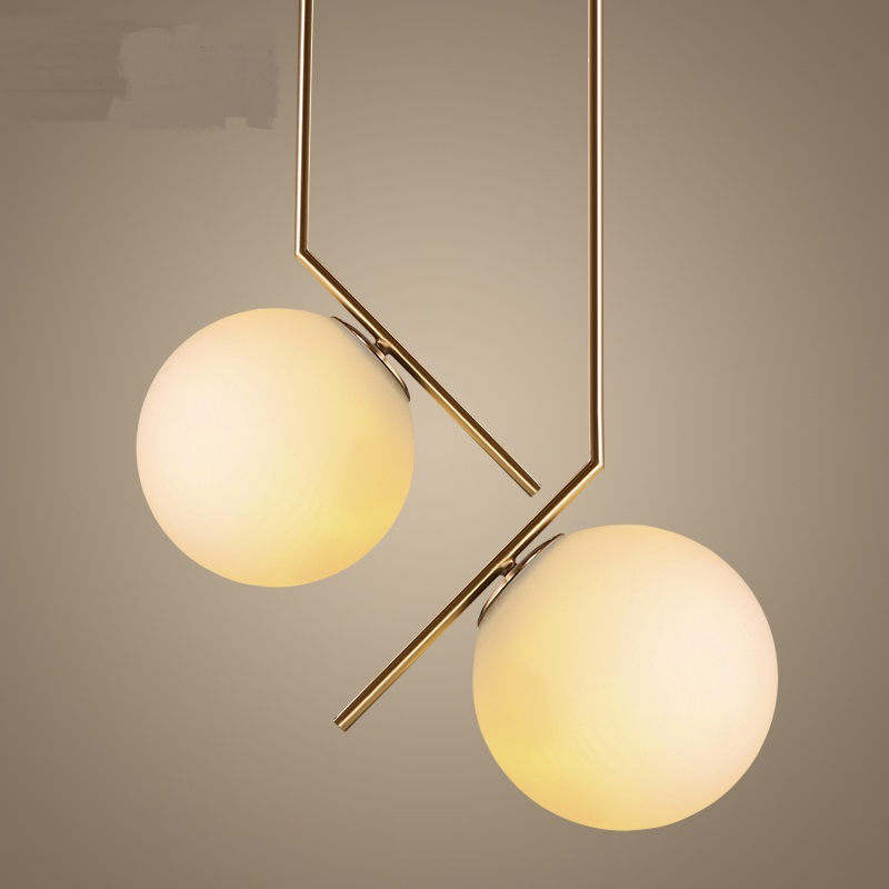 Nordic restaurant chandelier living room A1 Milan dream creative modern art simple bedroom bedside lamp glass ball nordic bedroom lamp clot multiple chandelier iron minimalist living room lights modern creative restaurant a1 zh