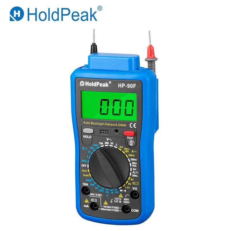 Multimetro Digital HoldPeak HP-90F Digital Network Multimeter Meter with Telephone Line and Network Cable Test 2pcs lot digital network multi meter