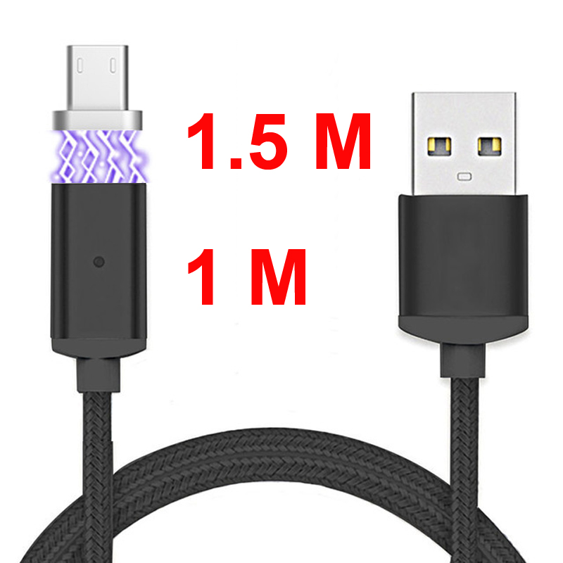 1.5M 1M Magnetic Cable Micro USB/Type C/IOS USB-C Mobile Pho