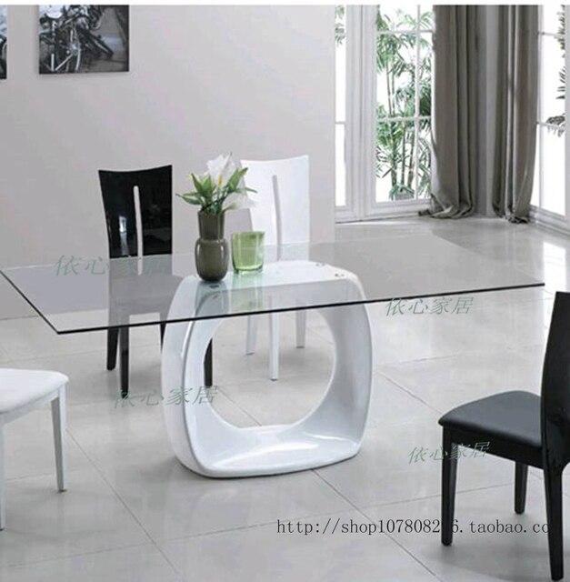 Fibra de vidrio mobiliario sencillo y elegante mesa de comedor, café ...