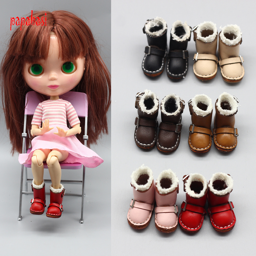 3.5cm fashion boots for blyth doll 1/6 30cm doll shoes for bjd gift toy mini shoes exclusive handsome martin boots for bjd 1 3 sd10 sd13 sd17 uncle ssdf id ip eid big foot doll shoes sm9