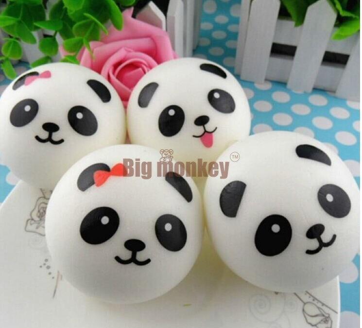 imágenes para Mono grande Nueva 10 CM Kawaii Pareja de Pandas Encanto Blando Del Teléfono Celular/Encanto Del Bolso/Correas Del Teléfono