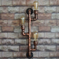 Wrought Iron Water Pipe Loft Style Wall Lamp Retro Industrial Wall Sconce Bedside Light Fixtures For Home Lighting Cafe Bar