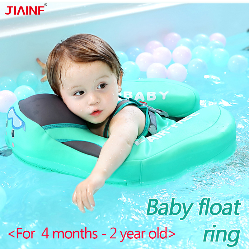 For 4 - 24 Months Baby Float Swimming Ring Solid No Inflatable Floating Swimming Pool  Toy Adjustable Safety Strap Swim Trainer