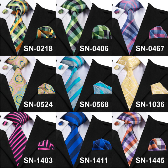 Tie, Hanky And Cufflinks Sets For Men – 100% Silk