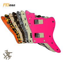 Pleroo Guitar accessories pickguards with 13 screws for fender US Jazzmaster guitar With PAF Humbucker Scratch Plate Replacement