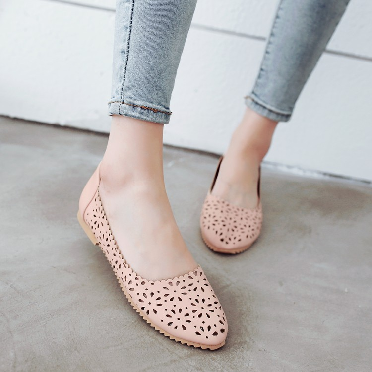 2017 Real Sale Plus Large Size 34-47 Women's Fashion Shoes Woman Flats Spring Female Ballet Metal Round Toe Solid Casual 8-13 plus size 34 41 black khaki lace bow flats shoes for womens ds219 fashion round toe bowtie sweet spring summer fall flats shoes