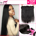West Kiss Virgin Hair ear to ear 13*4 lace frontal closure with bundles Brazilian straight hair 8A human hair ali pearl hair
