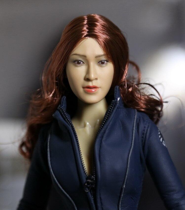 ФОТО HAOYUTOYS 1/6 Asia Beauty headsculpt for DIY 12inch Action Figure Doll