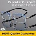 Famosa Marca de Óculos de Prescrição de Óculos Sem Aro Prescrição Quadro Homens Miopia óculos Masculino Óculos de sol de Luxo Óculos Coloridos 614