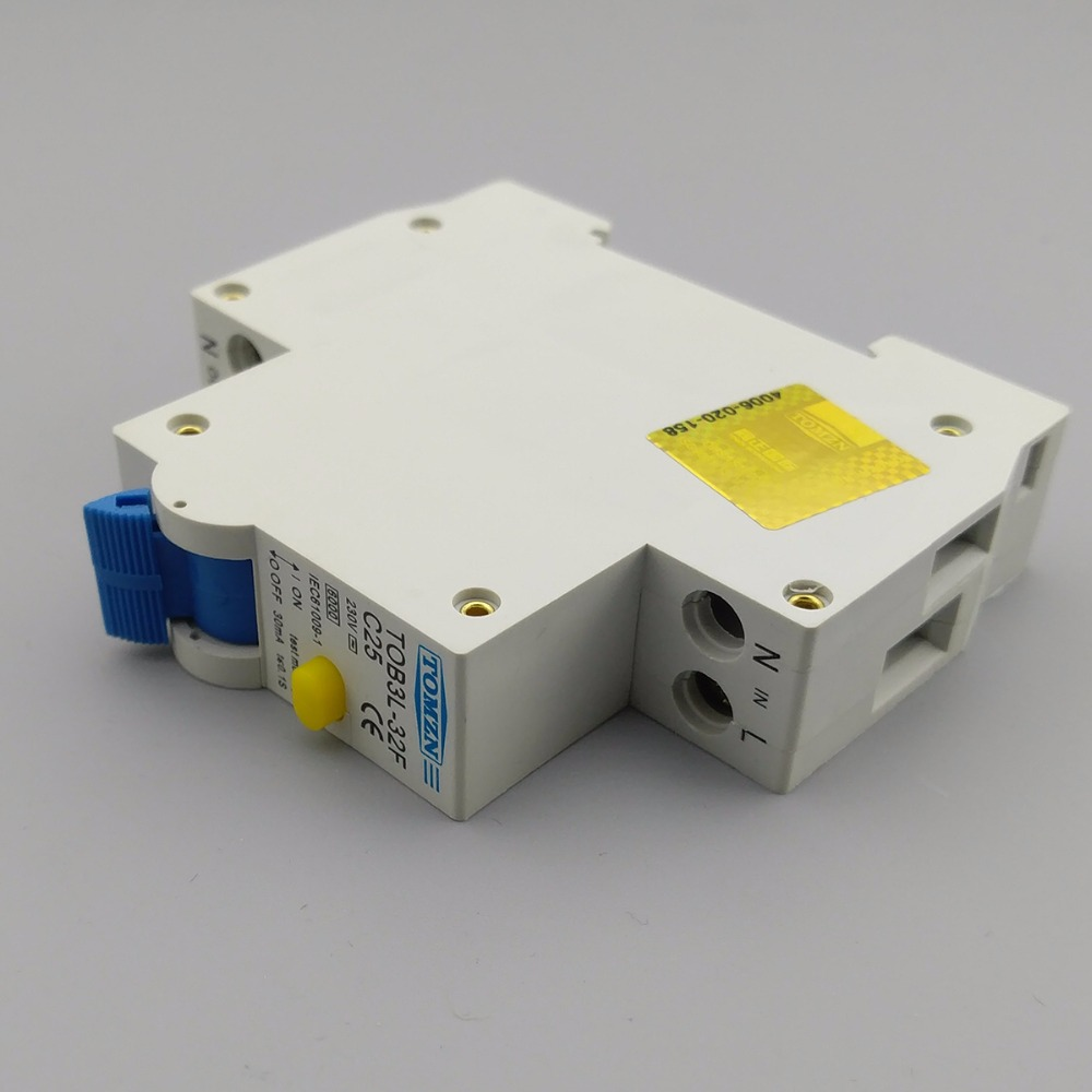 Marvelous 18 MM RCBO 25A 1 P + N 6KA Fehlerstromschutzschalter Differential  Automatische Schutzschalter Mit überstromschutz Und Leckage Schutz In 18 MM  RCBO 25A 1 P + ...