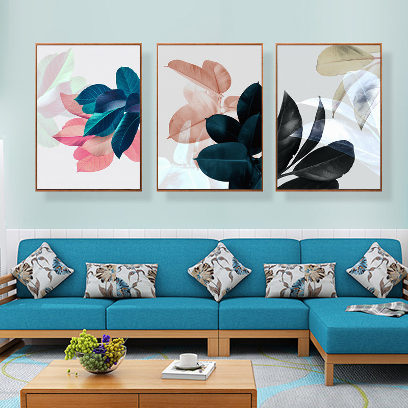 Nordic Style 3pcs Modern Watercolor Leaf Wall Painting Quotes Print on Canvas Wall Picture For Living Room Home Decor Gift in Painting Calligraphy from Home Garden